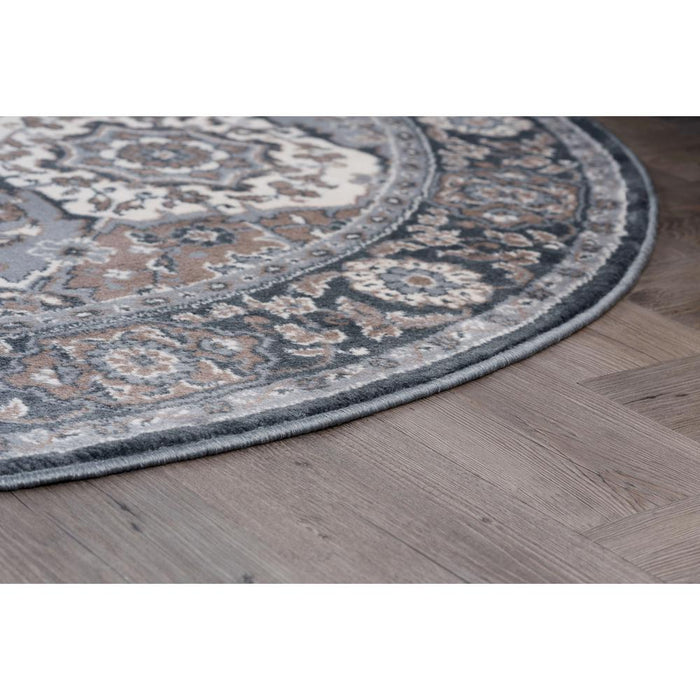 Tayse Rugs Madison Gray 5 ft. x 7 ft. Oval Area Rug