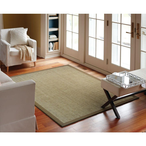 5x7 Harvest/Mocha Natural Jute Area Rug