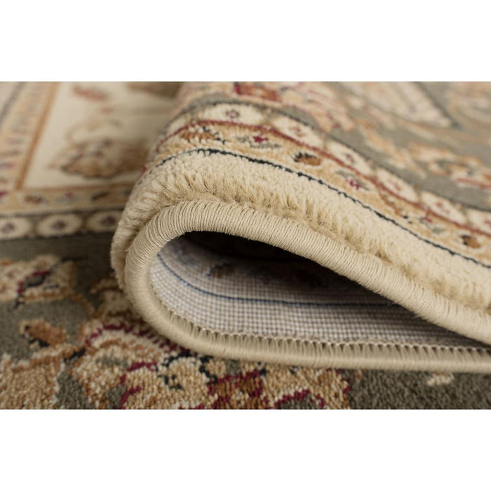Sensation Beige 7 ft. x 10 ft. Oval Traditional Area Rug By Tayse