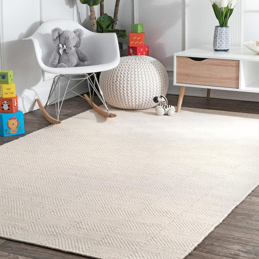 7'6 x 9'6 nuLOOM Cream Area Rug