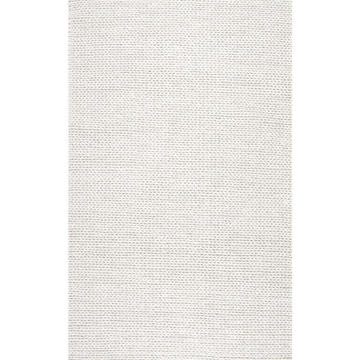 Chunky Woolen Cable Off-White 10 ft. x 13 ft. Area Rug by nuLOOM