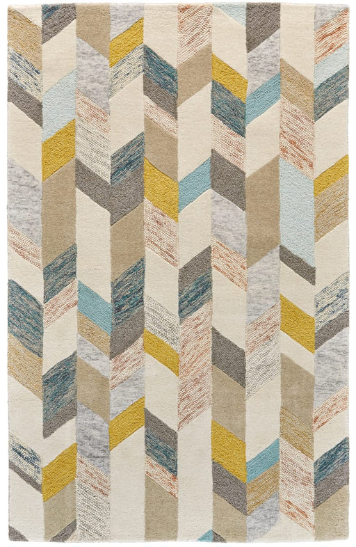 9'6x13'6 Gray Blue Gold Area Rug By Feizy