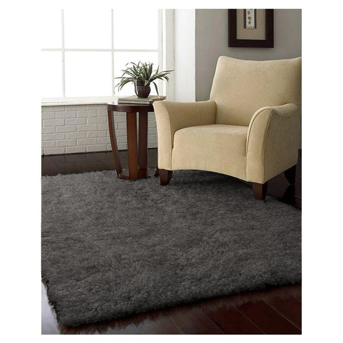 5 ft. x 7 ft. Solstice Skyline Grey Shag Area Rug