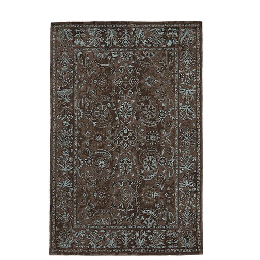 Home Decorators Collection Landes Taupe/Blue 5 ft. x 8 ft. Area Rug