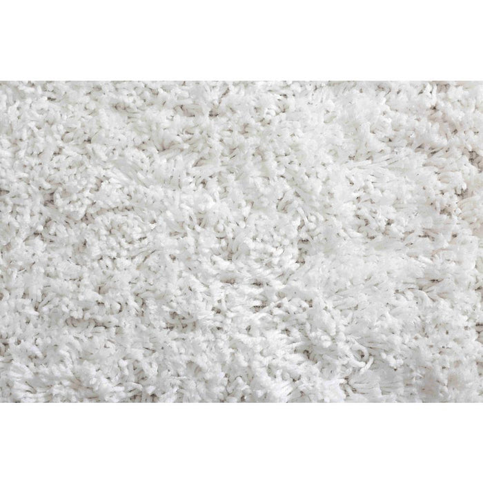 5 ft. x 7 ft. Microfiber Shag White Area Rug