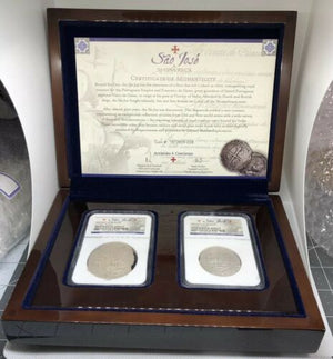 1556-1622 Sao Josee Shipwreck NGC 4 & 8 Reales Shipwreck Effect With Certificate