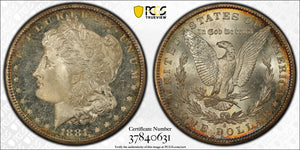 1881-S PCGS MORGAN SILVER DOLLAR MS64+ (LOOKS DMPL) PQ COIN!
