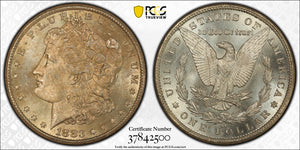 1883-CC MORGAN SILVER DOLLAR PCGS MS64 Carson City Mint!