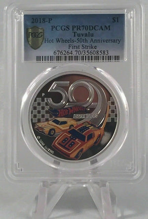2018 Hot Wheels 50th Anniversary Proof  PCGS PR70DCAM Gold Shield  First Strike CERT-35608583 TOPPOP!