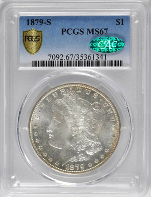1879-S Morgan Silver Dollar. MS-67 (PCGS). CAC.