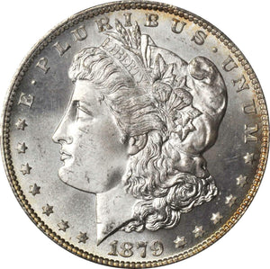 1879-S Beautiful Morgan Silver Dollar with some toning, PCGS & CAC MS67