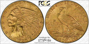 1927 $2.50 Gold Indian PCGS MS64+ CAC *PCGS Gold Shield Certified*