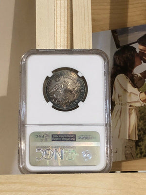 1825 A 25C Piece! NGC US 25 Cents From 1825 In MS64 Beautiful & Lustrous.