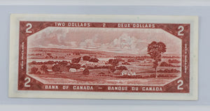 Bank of Canada 1954 $2 BCS BC-30b Beattie Coyne Devil's Face UNC 60