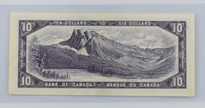 Bank of Canada 1954 $10 BCS  Extra Fine 45 BC-40b Beattie Rasminsky Modified Portrait