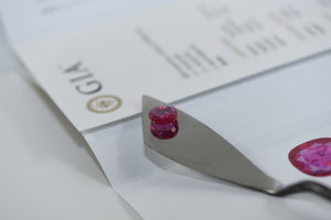 Natural Oval (Mixed) cut Ruby, Pinkish Red Color, Unheated 6.16 carat with GIA Certificate #5201450610