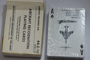 AIRCRAFT RECOGNITION PLAYING CARDS 44-2-10--ARMY 1979