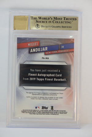 2019 Topps Finest Miguel Andujar #FAMA AUTO BGS 9.5 Auto 10