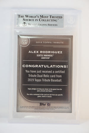2019 Topps Tribute Alex Rodriguez Game Used Relic 54/99 Beckett Mint 9