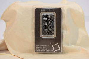 Valcambi 1 oz Minted Platinum Bar 999.5 Pure Switzerland