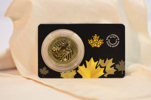 1 oz 2016 Gold (Canada) Canadian Wild Roaring Grizzly $200 BU in Assay Card