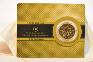 2007 Royal Canadian Mint 1oz Gold .99999 Pure Maple Leaf $200 in Assay