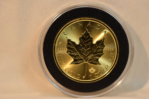 1 oz 2018 Gold Maple Leaf Coin - RCM .9999 Gold - Royal Canadian Mint
