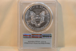 2017 Silver Eagle One Dollar First Strike PCGS MS70 Beautiful Shine And Lustre