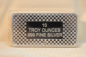 RMC Silver Eagle 10 oz Bar Beautiful And Unique Design front and back 999 Pure Silver Bar!