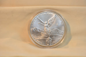 2014 Mexico 1 oz Onza Silver Proof Libertad Coin low Mintage in original capsule!