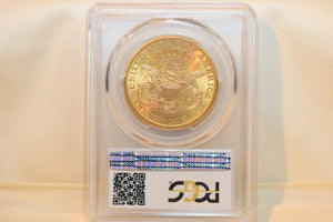 1899-S Liberty Head $20 Gold Coin PCGS MS63 + CAC