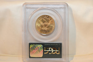 $10 Liberty Head Regular Strike 1893 PCGS GOLD COIN MS62 CERT 7596147