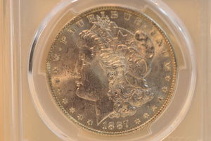 1887 Beautiful Lustrous Morgan Silver Dollar PCGS MS64 CERT-84983429