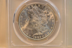 1886 Beautiful Lustrous Morgan Silver Dollar PCGS MS65 CERT-84074106