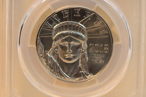 2018 American Platinum Eagle 1 oz $100 - PCGS MS70 - First Day of Issue CERT-35238763