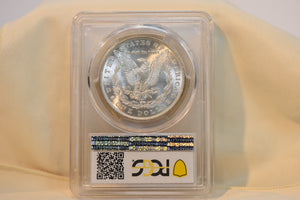 1885 PCGS MORGAN SILVER DOLLAR MS64 GOLD HOLDER WITH TRUE VIEW!