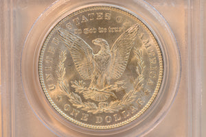 1886 PCGS MS63 Morgan Dollar With Golden Toning And Lustre! Cert #14803745