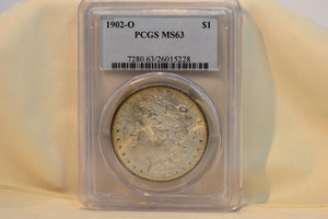 1902-O PCGS MS63 Morgan Dollar Cert #26015228