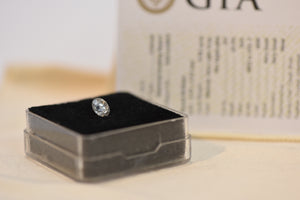 Diamond Natural Very Light Grey Rare! 0.90 CT SI2 Color + GIA REPORT #5201449892
