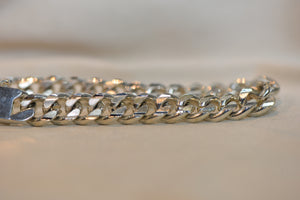 Silver Cuban Bracelet Sterling 925 Over 1 OZ 33.31g