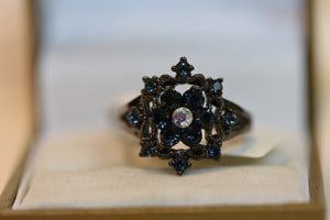 Fashion Ring Austrian Crystal Size 9 4.95g Beautiful Design