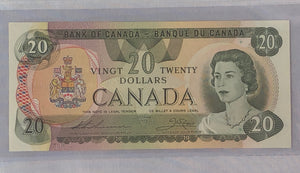 Bank of Canada 1979 $20 BCS Almost Uncirculated 50, BC-54cA-i, Replacement note