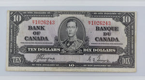 1937 Ten Dollar Bank of Canada note