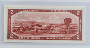 Bank of Canada 1954 $2 BCS BC-30b Beattie Coyne Devil's Face AU 55 Original