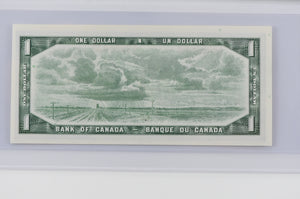 Bank of Canada 1954 $1 BC-37d Lawson - Bouey Modified Portrait BCS Choice UNC 62