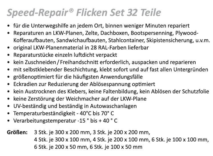 Speed-Repair® Flicken Set 32 Teile