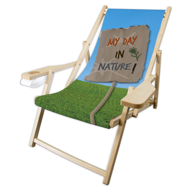 Liegestuhl COMFORT  Motiv MY DAY IN NATURE - DWB online