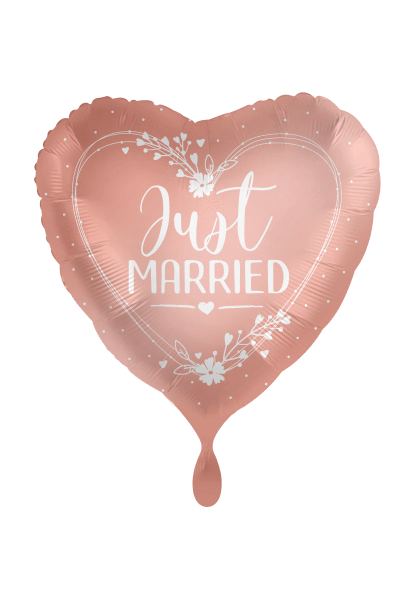 Folienballon Just married Satin rosegold  - 2-seitig bedruckt - DWB online