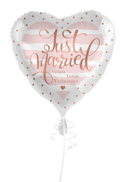 Folienballon Just married - 2-seitig bedruckt - DWB online