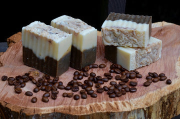 Coffee And Cream Skin Soap with Caffeine, Bar Soap, Caffeinated Bar Soap